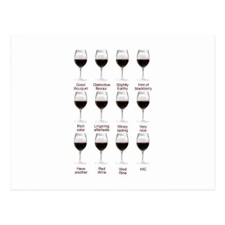 ワインの試飲 ポストカード