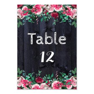 ワインの赤面海軍木製の国の結婚式のテーブル数 8.9 X 12.7 インビテーションカード