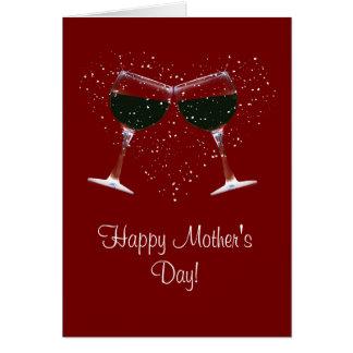 ワインの里の幸せな母の日カード カード