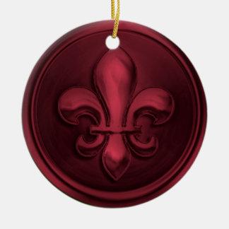 ワインの(紋章の)フラ・ダ・リのオーナメント セラミックオーナメント