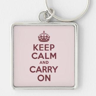 ワインのKeep Calm and Carry On キーホルダー
