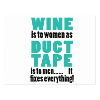 ワインは女性にガムテープが人に…あると同時にあります ポストカード