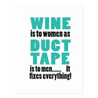 ワインは女性にガムテープが人に…あると同時にあります 葉書き