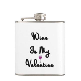 ワインは私のバレンタインです フラスク