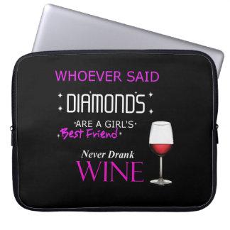 ワインは私のBffのネオプレンのラップトップスリーブです ラップトップスリーブ