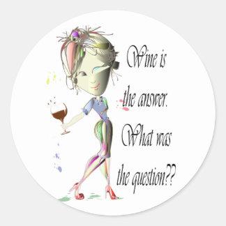 ワインは答え、何でした質問ですか。 ラウンドシール