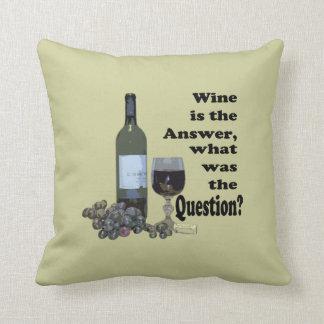 ワインは答え、何でした質問ですか。 枕