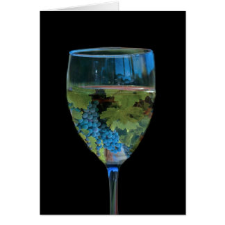 ワインまたはワイン愛好家のブドウ園の挨拶状 グリーティングカード
