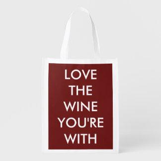 ワインをとのあなたは愛して下さい エコバッグ