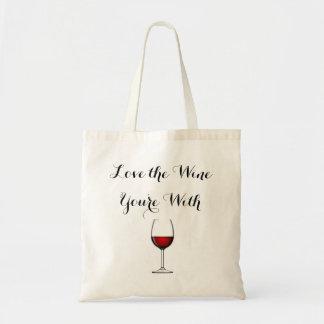 ワインをとのあなたは愛して下さい トートバッグ