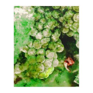 ワインを作るのに使用される緑のブドウ アクリルウォールアート