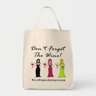 ワインを忘れないで下さい! 昇進 トートバッグ
