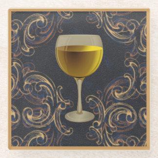 ワインを飲み、ガラスコースターを食事して下さい ガラスコースター