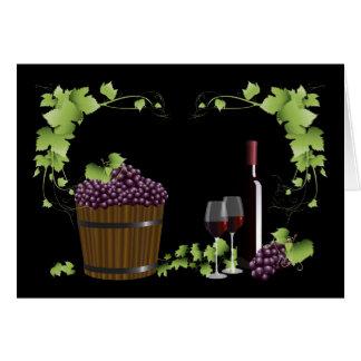ワイングラスおよびワインバレル カード
