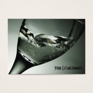 ワイングラスの名刺の水のクールな写真 名刺