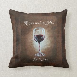 ワイングラスの枕 クッション