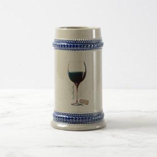ワイングラスの芸術の名前入りなロゴ ビールジョッキ