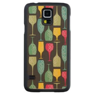ワイングラス CarvedメープルGalaxy S5スリムケース
