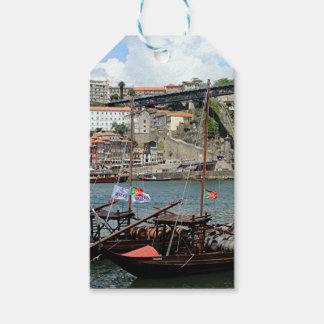 ワインバレルのボート、ポルト、ポルトガル ギフトタグ