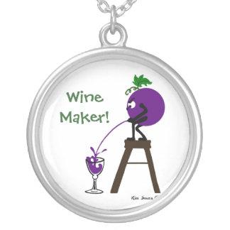 ワインメーカー-ネックレス シルバープレートネックレス
