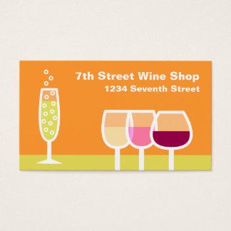 ワイン及びシャンペン 名刺