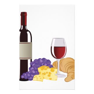 ワイン及びチーズ 便箋