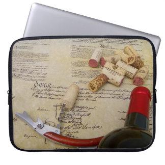 ワイン及び憲法のラップトップスリーブ! ラップトップスリーブ