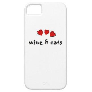 ワイン及び猫のiPhoneの場合 iPhone SE/5/5s ケース