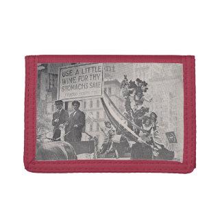 ワイン及び聖なる書物、経典の財布 ナイロン三つ折りウォレット