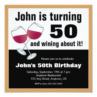 ワイン愛好家の第50誕生会 カード