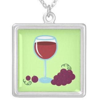 ワイン愛好家 シルバープレートネックレス