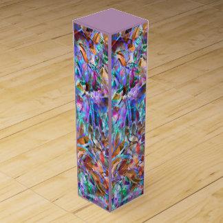 ワイン用化粧箱の花柄の抽象芸術のステンドグラス ワインギフトボックス