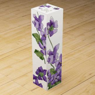 ワイン箱を結婚するかわいいfloral.wine箱 ワインギフトボックス