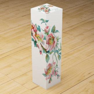 ワイン箱を結婚するかわいいfloral.wine箱 ワインボトル ギフトボックス