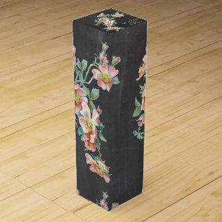 ワイン箱を結婚するかわいいfloral.wine箱 ワイン用化粧箱