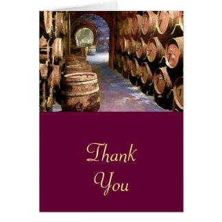 ワイン貯蔵室の感謝のワインバレル カード