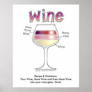 """ワイン、より多くのワイン、さらにワイン16"""" x20 """" ポスター"""