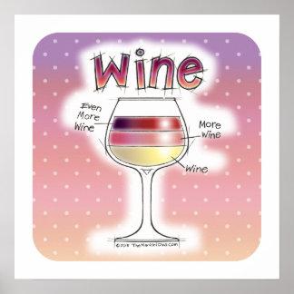 """ワイン、より多くのワイン、さらにワイン18"""" x18 """" ポスター"""
