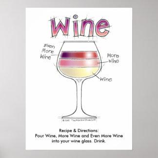 """ワイン、より多くのワイン、さらにワイン18"""" x24 """" ポスター"""