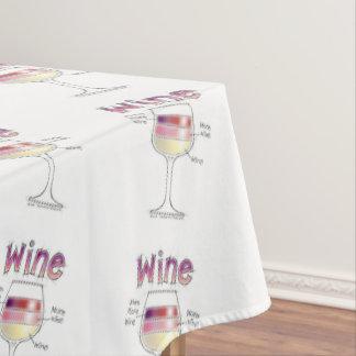 ワイン、より多くのワイン、さらにワイン テーブルクロス