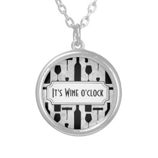 ワイン シルバープレートネックレス