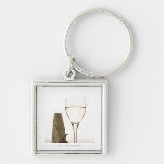 ワイン、チーズおよびイチジクの静物画 キーホルダー