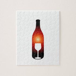 ワイン・ボトルおよびガラス ジグソーパズル