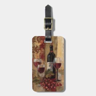ワイン・ボトルおよびワイングラス ラゲッジタグ