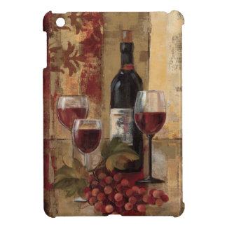 ワイン・ボトルおよびワイングラス iPad MINIケース