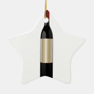ワイン・ボトルのデザイン 陶器製星型オーナメント