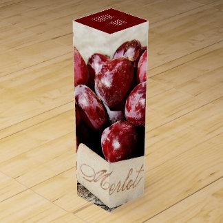 ワイン・ボトルの素朴なコルクおよびブドウ ワインギフトボックス