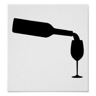 ワイン・ボトルガラス ポスター