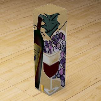 ワイン・ボトル、ガラスnのブドウ ワインギフトボックス