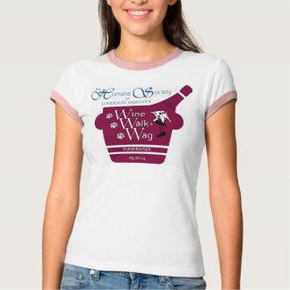ワイン、歩行及びおどけ者2014の有志のTシャツ Tシャツ